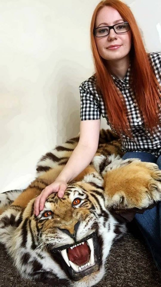 Pic shows Dovile Vaitkeviciute.. .. A taxidermist who advertised banned tiger furs from a now-extinct species on eBay is facing jail, a court heard today (Thurs). .. Dovile Vaitkeviciute, 31, used her online store Mr Muffin's Tiny Shop to illegally trade animal hides worth up to £2,500 between May and October 2014. .. She falsely claimed they were from big cats that died before 1947, which are still legal... SEE STORY CENTRAL NEWS