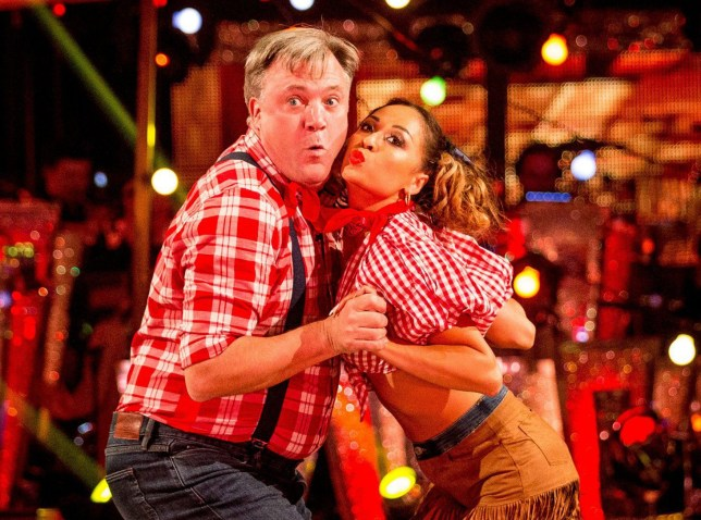 Ed Balls with his dance partner Katya Jones during a dress rehearsal for tonight's live edition of the BBC1 show, 'Strictly Come Dancing' . ..PRESS ASSOCIATION Photo. Issue date: Saturday October 1, 2016. See PA story SHOWBIZ Strictly. Photo credit should read: Guy Levy/BBC/PA Wire..NOTE TO EDITORS: Not for use more than 21 days after issue. You may use this picture without charge only for the purpose of publicising or reporting on current BBC programming, personnel or other BBC output or activity within 21 days of issue. Any use after that time MUST be cleared through BBC Picture Publicity. Please credit the image to the BBC and any named photographer or independent programme maker, as described in the caption. EMABRGOED TO 2025 SATURDAY OCTOBER 1..For use in UK, Ireland or Benelux countries only ..BBC handout photo of