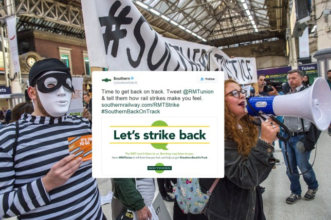 Mandatory Credit: Photo by Guy Bell/REX/Shutterstock (6050939p)nProtestersnSouthern Rail protest at Victoria Station, London, UK - 29 Sep 2016nPassengers groups, led by the Association of Briish Commuters (ABC), stage a protest aginst the poor service and high fairs charged by Southern Rail.n