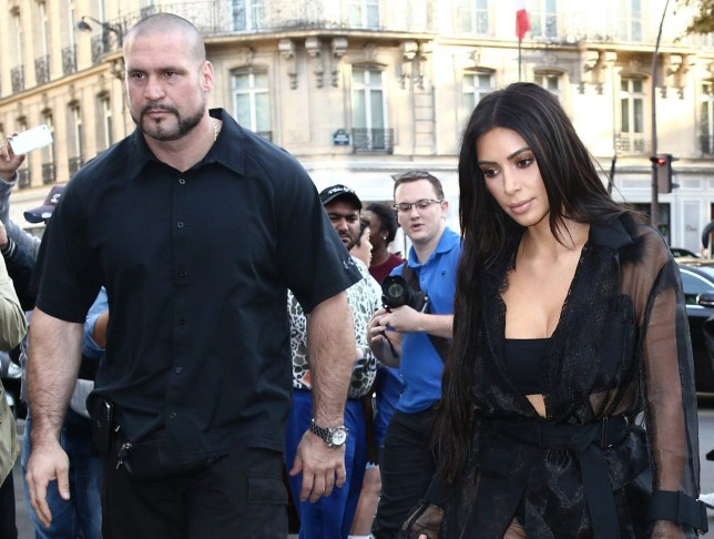 Picture Shows: Pascal Duvier, Kim Kardashian September 28, 2016 ***STOCK*** Reality television star Kim Kardashian, escorted by her bodyguard Pascal Duvier, is spotted heading to the Balmain fashion show during Paris Fashion Week in Paris, France. Kim was tied up and locked in a bathroom in the early hours of Monday morning, while thieves made off with an estimated $14 million worth of jewellery. The star was without security at the time of the robbery, in particular her ever-present personal bodyguard Pascal. ***STOCK*** Non Exclusive UK RIGHTS ONLY Pictures by : FameFlynet UK © 2016 Tel : +44 (0)20 3551 5049 Email : info@fameflynet.uk.com
