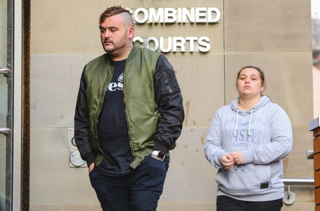 FILE PICTURE - Lucy Damen, 22, and Daniel Sheard, 24, of Cleckheaton, near Bradford, West Yorks., at Leeds Crown Court. The couple are on trial, over the death of their four month old baby, Kayleigh-Mai Sheard, in 2013. October 04, 2016. See Ross Parry story RPYBABY; Two parents are standing trial accused of child cruelty after their 18-week-old daughter was found dead with fractures, burns, bruises and bite marks, a court heard. A jury was told that tiny Kayleigh Sheard was found by paramedics in a bouncy chair in front of a gas fire, which was on its maximum setting. Prosecutor Nicholas Campbell QC told a jury: ìShe was dressed in a baby grow and socks and her face was covered in Sudacrem, it was clear she had suffered burns to her face.î In addition to this, she also had other injuries including extensive fractures to her shoulder and arm and evidence she suffered bites and bruises to her face, head and body, the court heard. The crown allege that Kayleigh's parents, Lucy Damen, 22, and Daniel Sheard, 24, ìneglected Kayleigh by failing to provide adequate medical careî.
