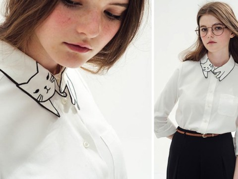 This feline-collared blouse is the perfect item for cat-lovers everywhere