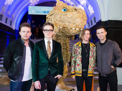 Just McFly and an eight-foot tall dinosaur made entirely of giant crumpets