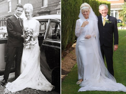 This couple celebrated their 50th anniversary in the same wedding clothes they wore in 1966