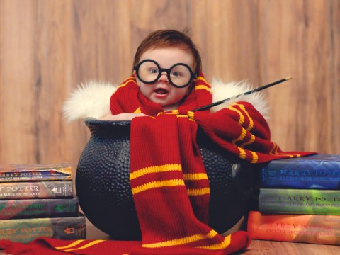 Little wizard stars in magical Harry Potter baby shoot