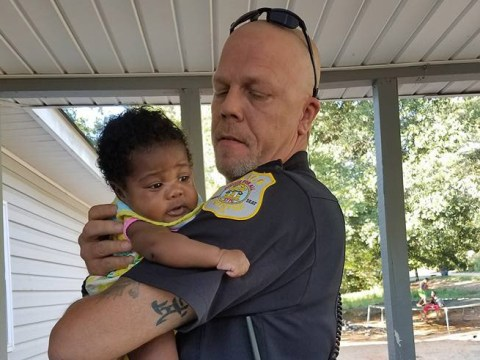Police officer is asked to be baby's godfather after saving her life