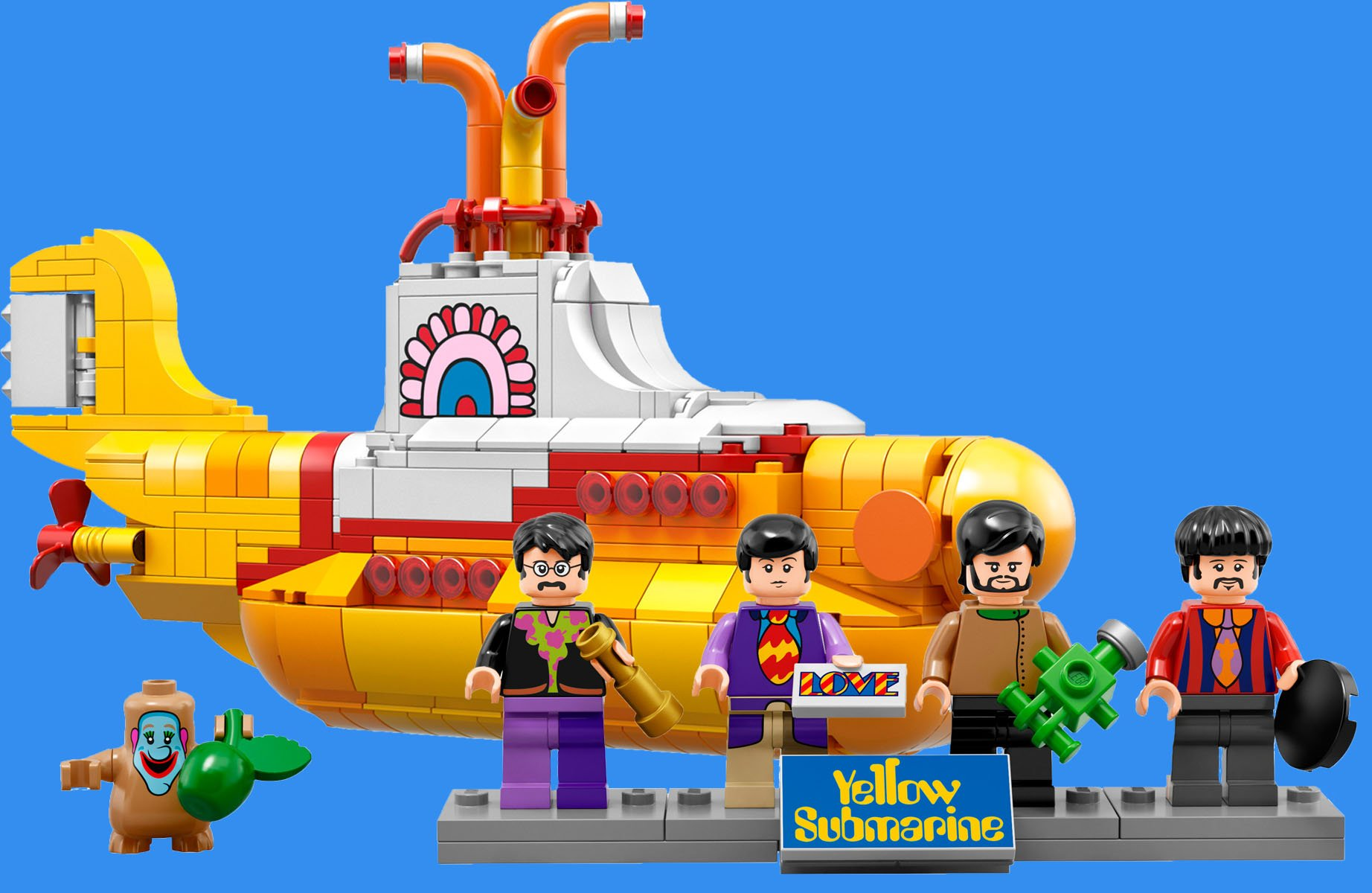 A fan asked LEGO to make a set of The Beatles' Yellow Submarine, so they did