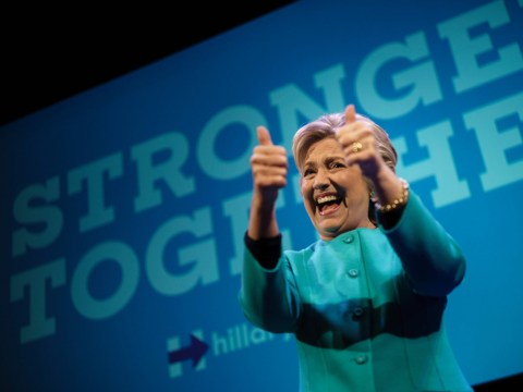 Hillary Clinton holds on to an 11-point lead over Donald Trump