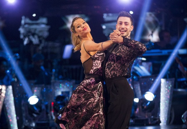 EMBARGOED TO 2025 SATURDAY OCTOBER 15 For use in UK, Ireland or Benelux countries only Undated BBC handout photo of Laura Whitmore with dance partner Giovanni Pernice during a dress rehearsal for tonight's edition of the BBC1 show, Strictly Come Dancing. PRESS ASSOCIATION Photo. Issue date: Saturday October 15, 2016. See PA story SHOWBIZ Strictly. Photo credit should read: Guy Levy/BBC/PA Wire NOTE TO EDITORS: Not for use more than 21 days after issue. You may use this picture without charge only for the purpose of publicising or reporting on current BBC programming, personnel or other BBC output or activity within 21 days of issue. Any use after that time MUST be cleared through BBC Picture Publicity. Please credit the image to the BBC and any named photographer or independent programme maker, as described in the caption.