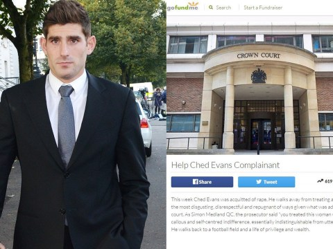 Crowdfunder for woman who accused Ched Evans of rape