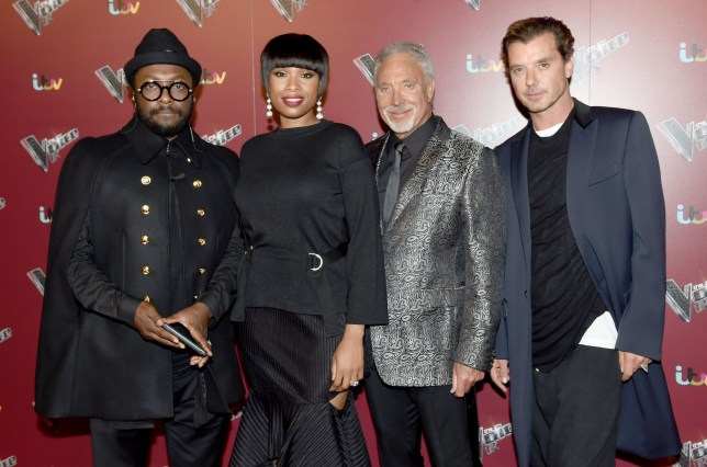 Mandatory Credit: Photo by MCPIX/REX/Shutterstock (6392661ab) will.iam, Jennifer Hudson, Tom Jones and Gavin Rossdale. The Voice UK Launch, Manchester, UK - 18 Oct 2016