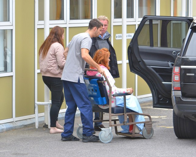 Picture Shows: Harry Redknapp, Sandra Redknapp October 20, 2016 **Min £50 Per Picture Web / Online Usage Fee** Former Premier Leaguel Manager Harry Redknapp picks up his wife Sandra from the hospital after he ran her over leaving her screaming in agony during a freak accident at their home. Harry picked up his injured wife from a London hospital in a Range Rover, the same type of vehicle she was injured by. **Min £50 Per Picture Web / Online Usage Fee** Exclusive WORLDWIDE RIGHTS Pictures by : FameFlynet UK © 2016 Tel : +44 (0)20 3551 5049 Email : info@fameflynet.uk.com