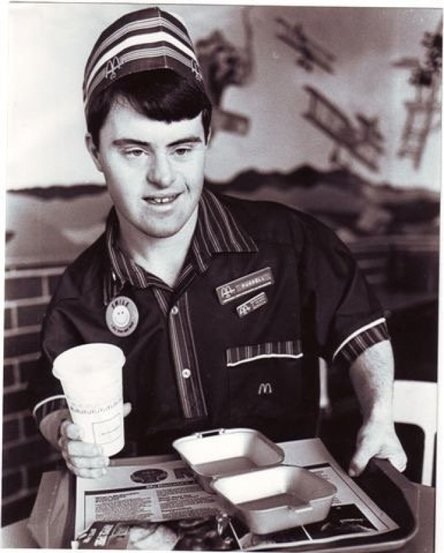 Worker with Down syndrome celebrates 30 years working with McDonald's Northmead Images supplied by Job Support