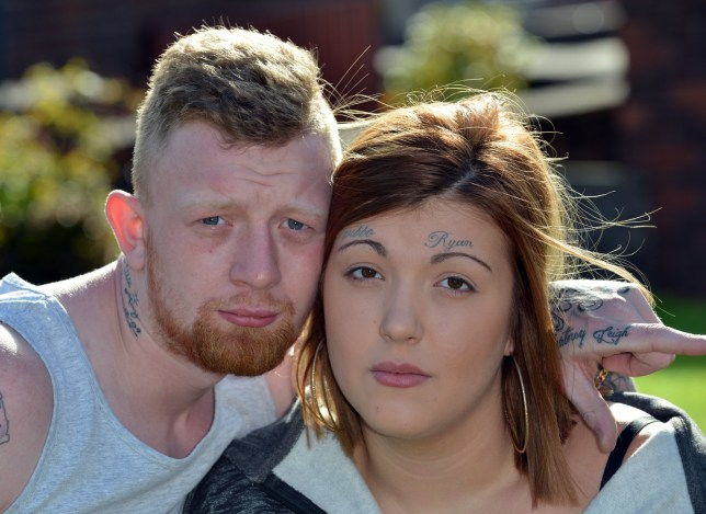 Ryan Wibberley convinces girlfriend to get his name tattooed on her forehead
