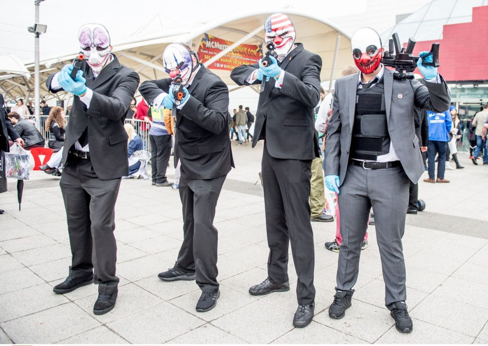 Mandatory Credit: Photo by RMV/REX/Shutterstock (6898457ct) Cosplayers in costume MCM London Comic Con, Excel, London, UK - 29 Oct 2016