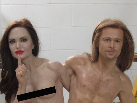 You can buy a graphic nude statue of Angelina Jolie and Brad Pitt as conjoined twins on eBay for over £10,000