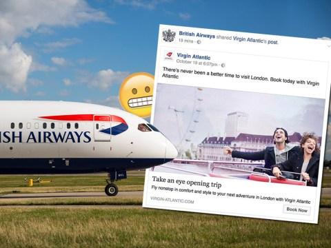 BA recommends Virgin Atlantic in embarrassing Facebook gaffe