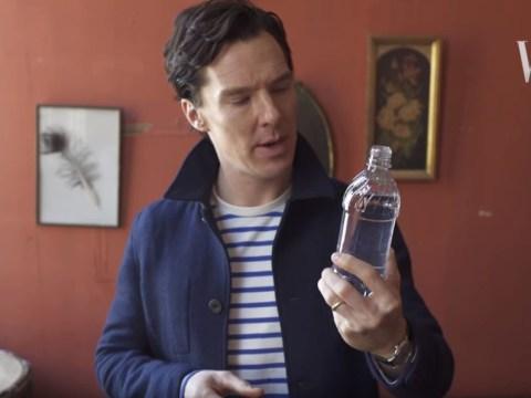 Benedict Cumberbatch shows off his skills as a magician