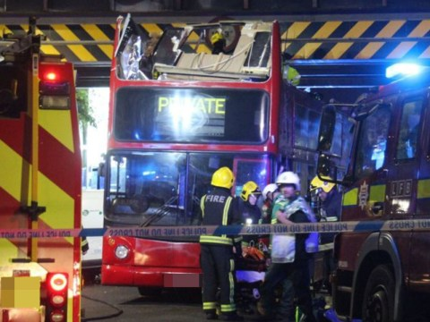 More than 20 injured after double-decker bus crashes into railway bridge in Tottenham