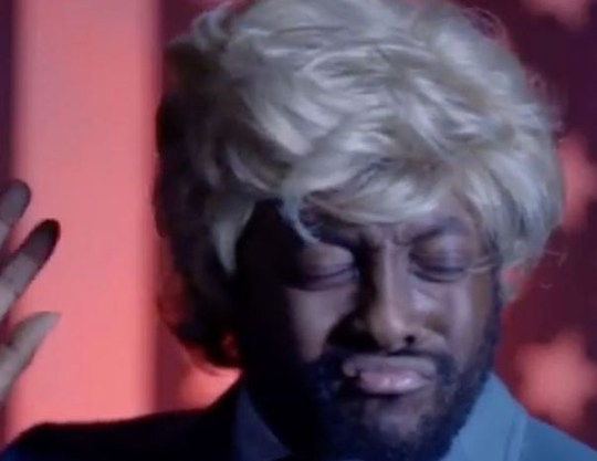 Will.i.am. pretends to be Donald Trump (Picture: Funny Or Die/YouTube)