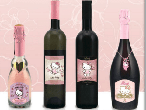 Hello Kitty is now doing wine and it looks incredibly sweet