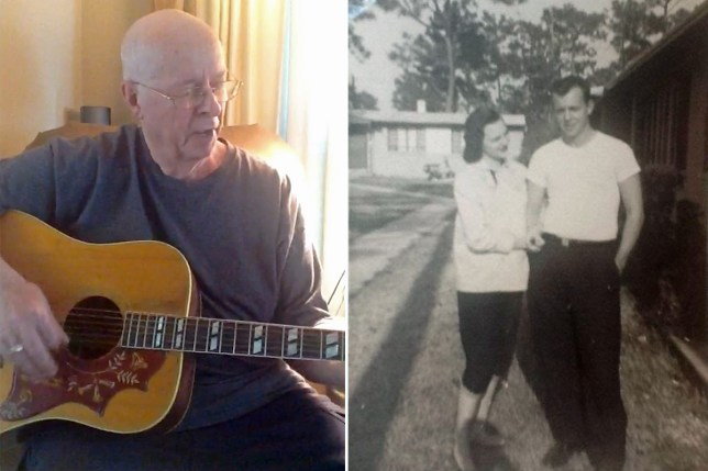 Devoted Arnold Walker penned an original song for wife Carol on their fiftieth wedding anniversary about how they first met
