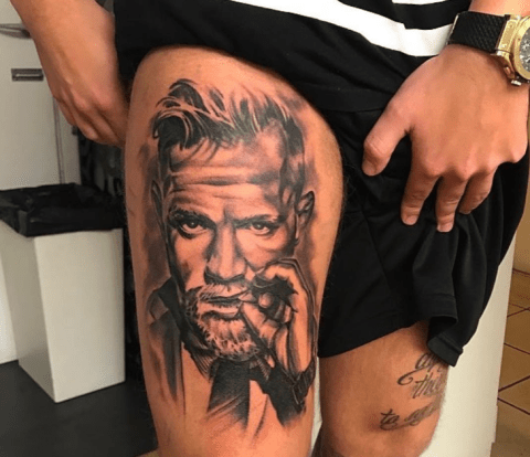 Michael Bisping And Conor Mcgregor Face Tattoos By Ufc Fans