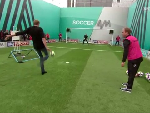 Stoke City star Peter Crouch tries to play Headers and Volleys and it all goes horribly wrong