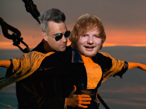 Robbie Williams and Ed Sheeran collaborated – from the middle of the ocean