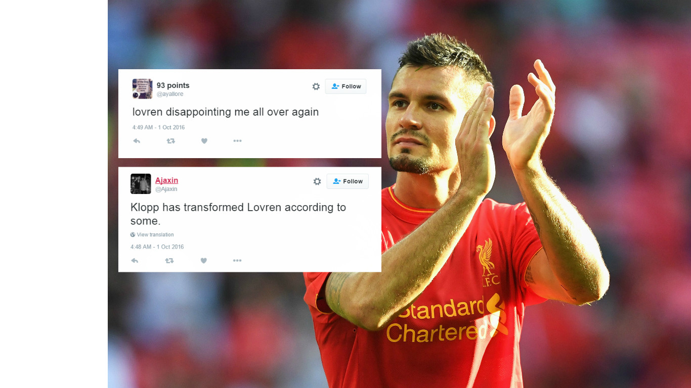 Liverpool fans rage with Dejan Lovren after Reds go behind to Swansea in the Premier League