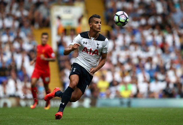 LONDON, ENGLAND - AUGUST 27: Erik Lamela of Tottenham Hotspur controls the ball during the Premier League match between Tottenham Hotspur and Liverpool at White Hart Lane on August 27, 2016 in London, England. (Photo by Jan Kruger/Getty Images)