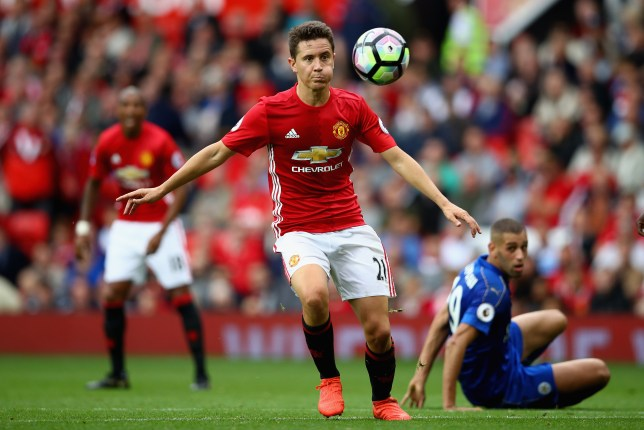 MANCHESTER, ENGLAND - SEPTEMBER 24: Ander Herrera of Manchester United in action during the Premier League match between Manchester United and Leicester City at Old Trafford on September 24, 2016 in Manchester, England. (Photo by Clive Brunskill/Getty Images)