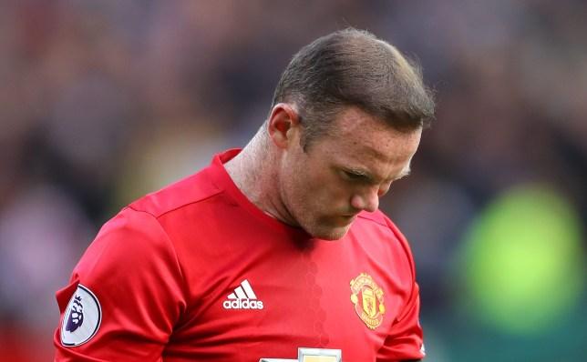 MANCHESTER, ENGLAND - OCTOBER 02: Wayne Rooney of Manchester United shows dejection after the final whistle during the Premier League match between Manchester United and Stoke City at Old Trafford on October 2, 2016 in Manchester, England. (Photo by Richard Heathcote/Getty Images)