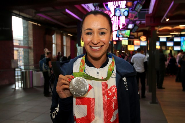 MANCHESTER, ENGLAND - OCTOBER 17:  Jessica Ennis-Hill of Great Britain poses with her medal before a Rio 2016 Victory Parade for the British Olympic and Paralympic teams on October 17, 2016 in Manchester, England.  (Photo by Jan Kruger/Getty Images)