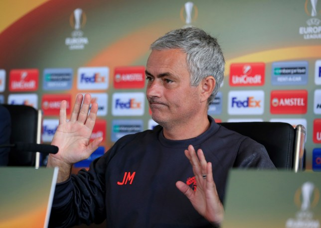 MANCHESTER, UNITED KINGDOM - OCTOBER 19: Head coach of Manchester United Jose Mourinho speaks to media during a press conference after a training session prior to the UEFA Europa League Group stage soccer match between Manchester United and Fenerbahce at AON Training Ground in Carrington, Manchester, United Kingdom on October 19, 2016.  (Photo by Lindsey Parnaby/Anadolu Agency/Getty Images)