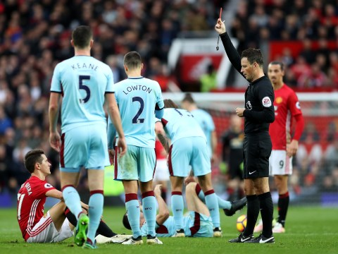 Manchester United 0-0 Burnley: Clarets earn famous draw as Ander Hererra and Jose Mourinho see red
