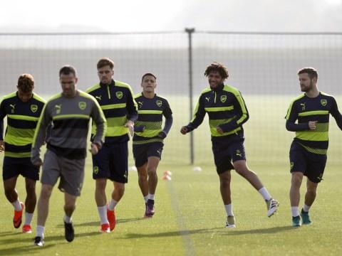 Santi Cazorla and Nacho Monreal miss Arsenal training ahead of Ludogorets clash