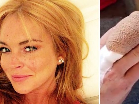 Lindsay Lohan rushed to surgery after cutting off half a finger in horror boating accident