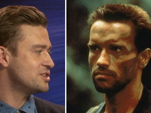 Justin Timberlake does a mean Arnold Schwarzenegger impression and he did it for us when he and Anna Kendrick chatted about their new film Trolls