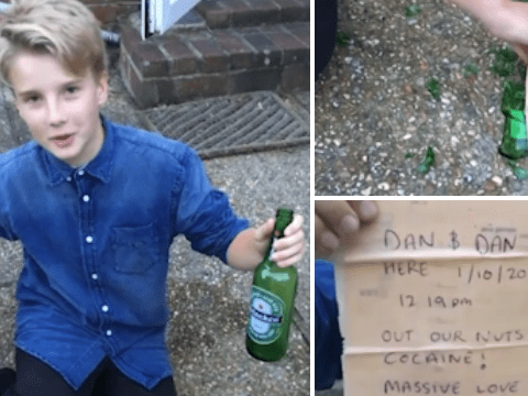 Teen finds 'world's worst message bottle' written by two guys on a cocaine binge