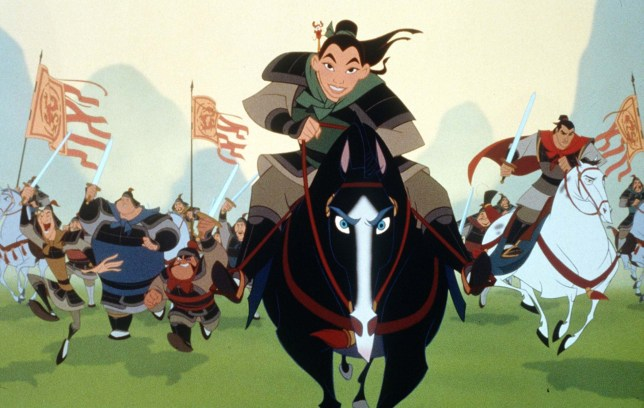 Mulan leads the charge against the Huns in Disney's latest epic, 'Mulan' made in 1998.