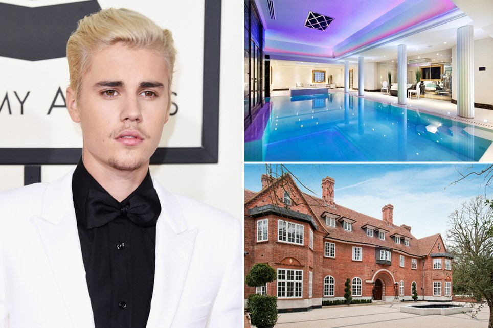 JBiebs rents £108k-a-month north London party pad