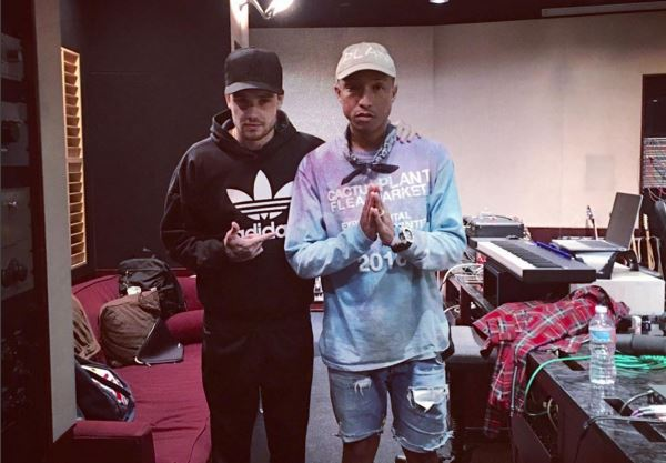 Liam Payne has been snapped in the studio with Pharrell Williams – we know what this means