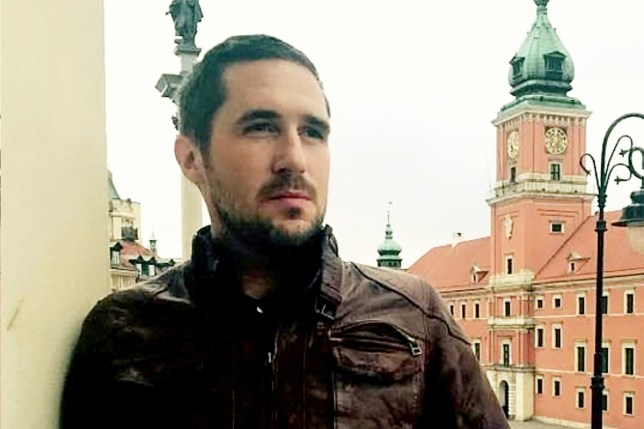 """credit: SWNS. Max Spiers. A man who went to school with Orlando Bloom texted his mum to say 'If anything happens to me, investigate' just days before his mysterious death. See NATIONAL story NNDEAD. Max Spiers, 39 was found dead on a sofa in Poland, where he had gone to give a talk about conspiracy theories and UFOs. He was ruled to have died from natural causes despite no post-mortem examination being carried out on his body. But his dark investigations into UFOs and government cover-ups may have made him enemies who wanted him dead, says mother Vanessa Bates, 63. In a chilling text message to his mum just days before his death, Max wrote: """"Your boy's in trouble. If anything happens to me, investigate."""""""