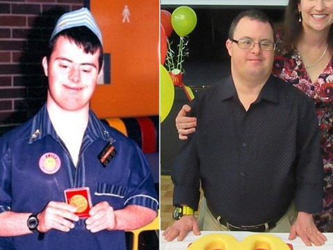 McDonald's worker with Down's syndrome celebrates 30 years in the job