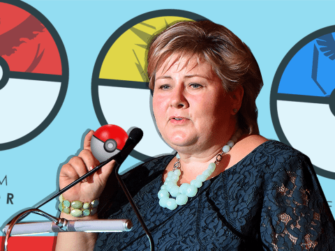 Norway's prime minister was caught playing Pokémon Go in parliament