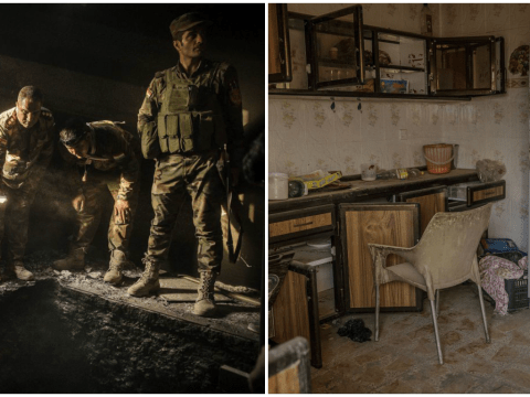 The empty homes in war torn Mosul abandoned by retreating Isis militants