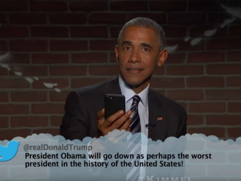 Barack Obama reads mean tweets and lays the smackdown on Donald Trump