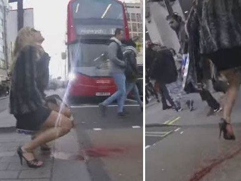Woman has 'period explosion' in the road as part of social experiment