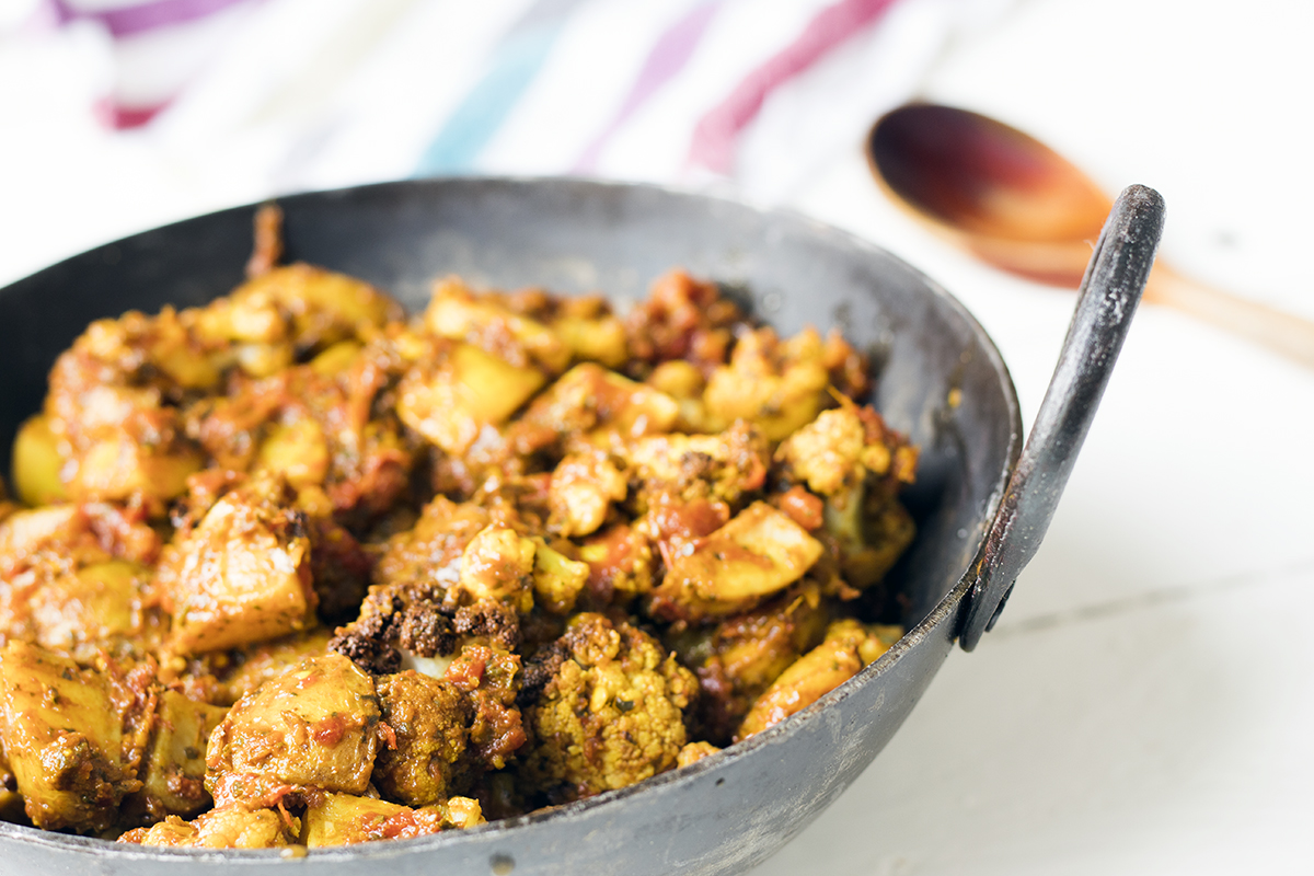 Vegan recipe video: Potato and cauliflower curry